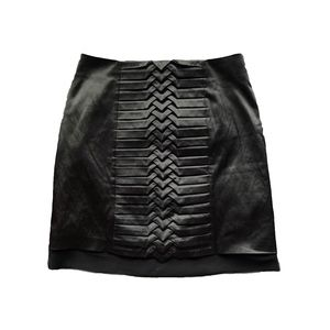 TOPSHOP ORIGAMI BLACK SATIN SKIRT